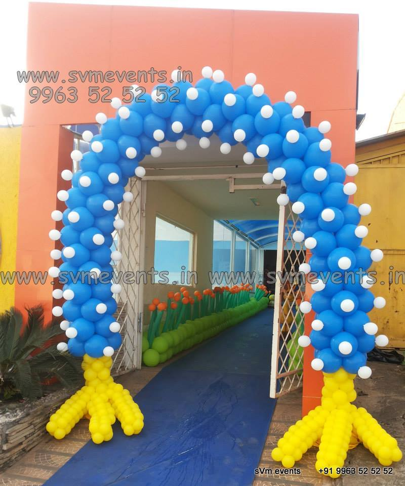 Wall Decoration Ideas With Balloons : Birthday party organisers in hyderabd vijayawada svm events