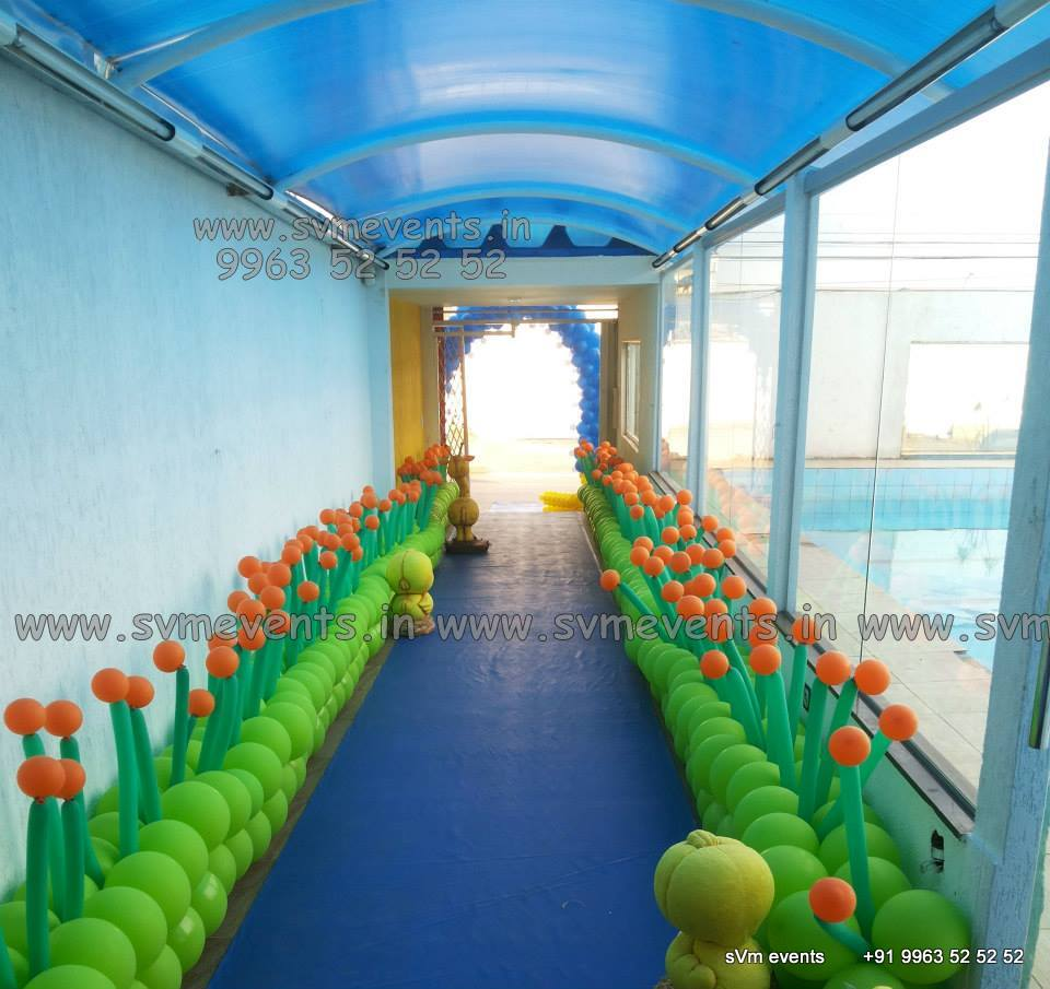 Balloon Decorations For Birthday Party, Balloon Wall