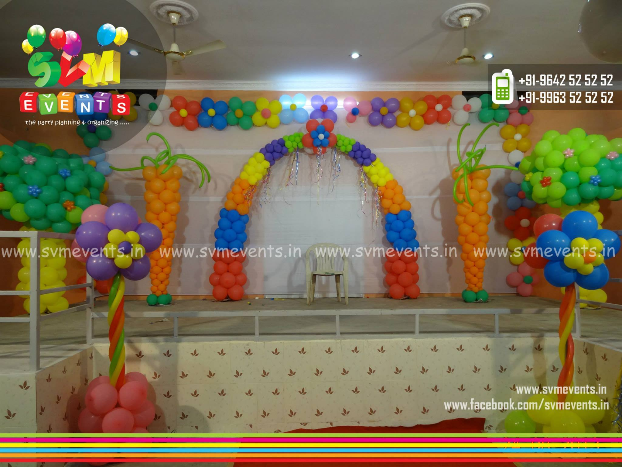 Birthday decorations and Birthday decorators in hyderabad Svm Events